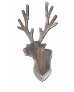 Coat rack deer - Grey wash