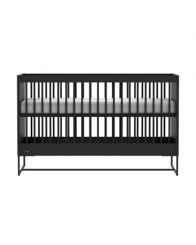 Intense Black / Black - Cot bed 70x140