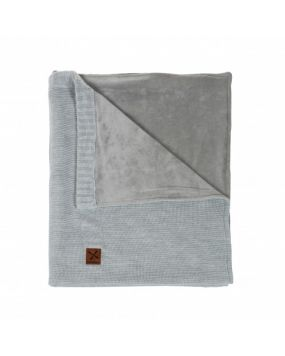 Knitted Grey - Babyblanket cot
