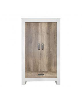 Costa White / Oldwood - Wardrobe (2-doors)