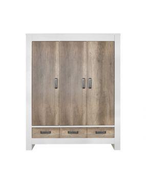 Costa White / Oldwood - Wardrobe (3 doors)