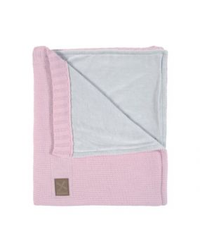 Knitted Pink - Babyblanket cot(bed)