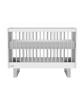 Intense White / Stainless steel - Cot 60x120