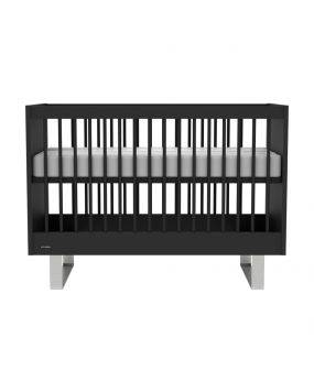 Intense Black / Stainless steel - Cot 60x120