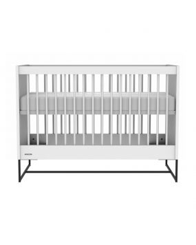 Intense White / Black steel - Cot 60x120
