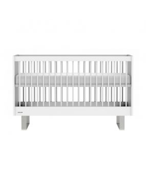 Intense White / Stainless steel - Cot bed 70x140