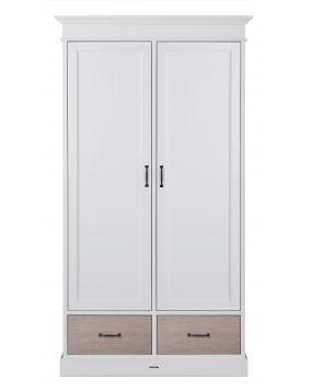 La Première White / Oak - Wardrobe (2 doors)
