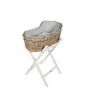 Knitted Grey - Bedding moses basket