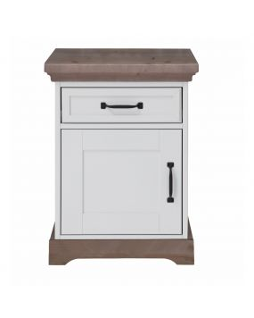 Savona White / Grey without cross - Bedside table