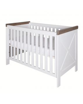 Savona White / Grey with cross - Cot 60x120