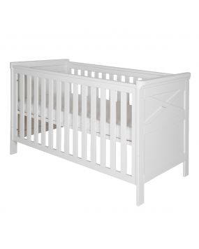 Savona White with cross - Cot bed 70x140