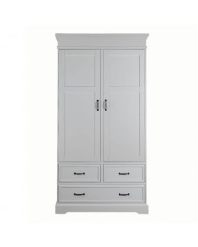 Savona White without cross - Wardrobe (2 doors)