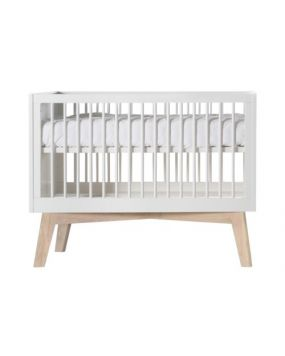 Sixties White Matt / Oak - Cot bed 70x140
