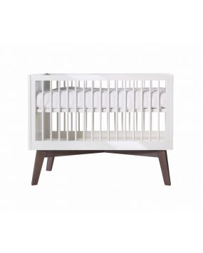 Sixties White Glossy / Pine - Cot 60x120