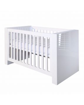 Somero White / Glossy - Cot bed 70x140
