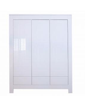 Somero White / Glossy - Wardrobe (3 doors)