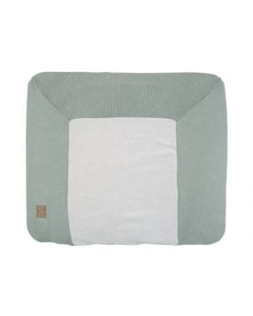 Knitted Stone Green - Changing mat cover 80x65